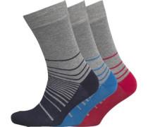 Herren 3 Pack Socken Mehrfarbig