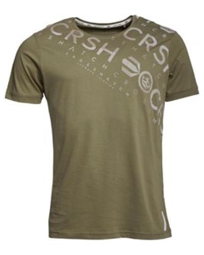 Herren Camo Cru T-Shirt Olivengrün