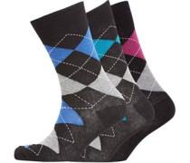 Herren Argyle Socken Schwarz/Weiß/Grau/Rosa/Lila/Blaugrün