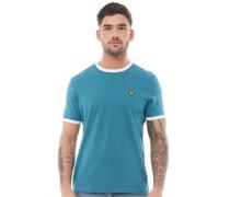Ringer Petrol T-Shirt Blaugrün