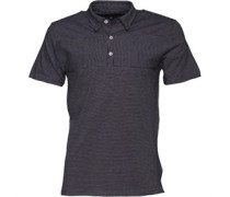Herren Billy Stripe Polohemd Navy