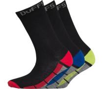 Duffs Junior Three Pack Socks Multi
