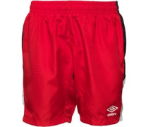 Umbro Junior Embassy Shorts Vermillion/Black/White