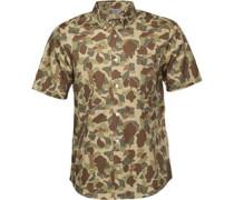 Carhartt Herren Camo Camo Outdoor Hemd mit langem Arm Khaki