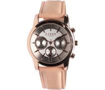 Lipsy Damen Chrono Detail Armbanduhr Rosa-Gold