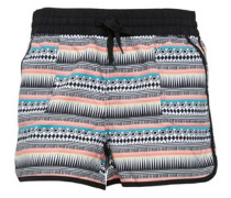 Damen AOP Boardshorts Black Multi