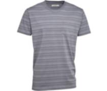 Herren Striped Polohemd Grau
