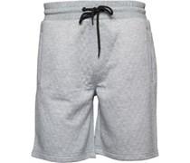 Herren Quilt Shorts Grau