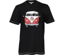Kangaroo Poo Herren FrontBack Print T-Shirt Black