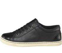 Damen Taya Croco Sneakers Schwarz