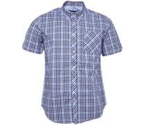 House Check Hemd mit kurzem Arm Blau