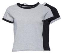 Zwei Pack Claudia T-Shirt Schwarz