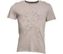 Herren Gluttony Graphic T-Shirt Grau