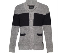 Herren Burgh Shawl Neck Strickjacke Grau
