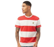 Wide Stripe T-Shirt Rot