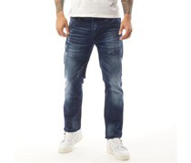 Cuarzo Jeans in Slim Passform Dunkel Denim