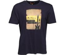Herren Strings Pulled T-Shirt Navy