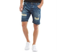 Herren Quincy Denim Shorts Dark Blue Wash