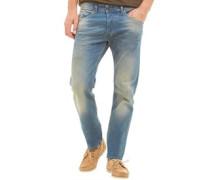Herren Belther 085OU Jeans mit zulaufendem Bein Verblasstes Blau