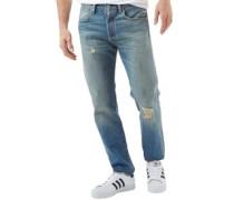 Herren 501 Customized Tapered Fit Jeans mit zulaufendem Bein Verblasstes Hellblau