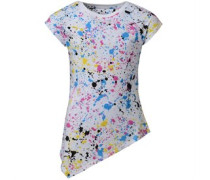 Converse Mädchen ed Asymmetric Tunic Colourfilled Splatter Top Mehrfarbig