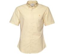 Herren Steen Hemd mit kurzem Arm Gelb