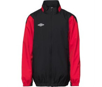 Umbro Junior Shower Jacket Black/Vermillion