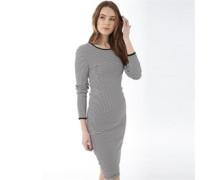 Damen Kelly Striped Midi Kleid Schwarz