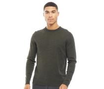 Basic Pullover mit Rundhalsausschnitt meliert