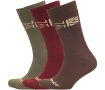 Herren Thermal Wandersocken Coffee/Port/Grape