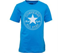Converse Junior Chuck Patch T-Shirt Spray Paint Blue
