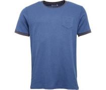 Herren Mini Waffle Ringer T-Shirt Blaumeliert