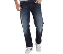 Mens Larkee 0823G Regular Fit Jeans Blue Wash