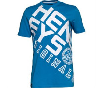 Henleys Herren Ara T-Shirt Königsblau/Weiß