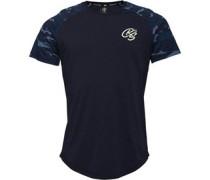 Hillgrove Raglan Camo T-Shirt Dunkel