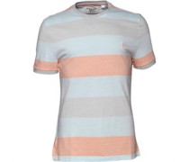 Original Penguin Herren Birdseye Colour Block High Rise T-Shirt Gestreift