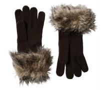Damen Fur Handschuhe Grau