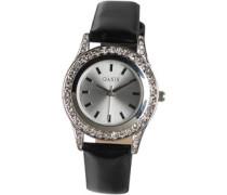 Damen Diamante Armbanduhr Schwarz