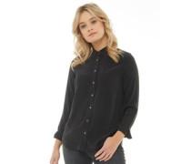 Damen Modern One Bluse mit langem Arm Schwarz