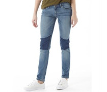 Damen Fashion Jeans mit geradem Bein Blue Denim