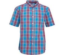 Firetrap Junior Checked Shirt Deep Sky Blue