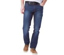 Herren Jeans mit geradem Bein Dunkel Denim