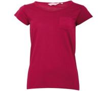 Damen T-Shirt Burgunderrot