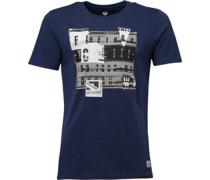 Firetrap Herren Ransom T-Shirt Blau