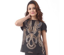 Ted Baker Womens Tottey Decadent Jacquard Top Rosegold