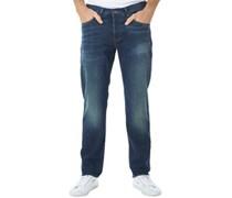 Ben Sherman Herren The Turnmill Slim Leg 6 Month Vintage Jeans in Slim Passform Blau