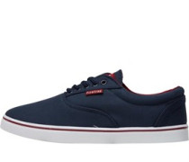 Firetrap Mens Murphy Canvas Shoe Navy/Red
