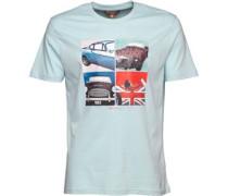 Herren Sports Car T-Shirt Hellblau