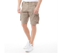 Twill Combat Cargo Shorts Taupe