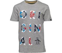 Jungen Argyle Logo T-Shirt Graumeliert